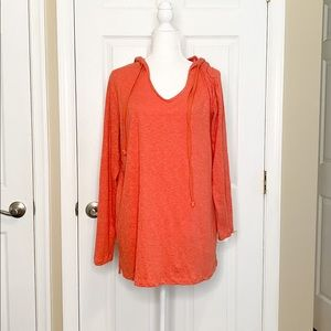 Agnes & Dora Women's Top Tunic Coral Hooded Small
